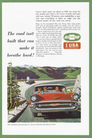 1957 CHEVROLET Vintage Auto Print Ad