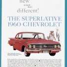 1960 CHEVROLET Vintage Auto Print Ad