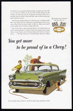 1957 CHEVROLET Vintage Auto Print Ad