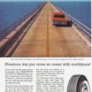 1957 FIRESTONE TIRES Vintage Print Ad