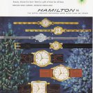 1956 HAMILTON WATCHES Vintage Magazine Ad