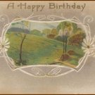 HAPPY BIRTHDAY Vintage Scenic Illustrated Post Card