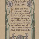VINTAGE 1909 Birthday Greetings POSTCARD