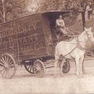 Vintage 1900&#39;s Horse & Wagon Photo POSTCARD