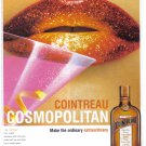 COINTREAU Cosmopolitan Collectible Liquor Print Ad