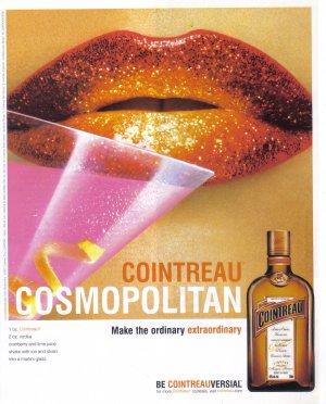 COINTREAU Cosmopolitan Collectible Liquor Print Ad