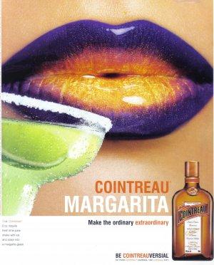 COINTREAU Margarita Collectible Liquor Print Ad