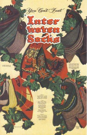 1948 InterWoven Socks Vintage Fashion Print Ad