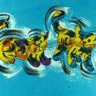 Original Batik Art Painting on Cotton, 'Cats' by Taufik (75cm x 45cm)