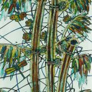 Original Batik Art Painting on Cotton, 'Bamboo' by M. Yono (45cm x 75cm)