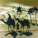 Original Batik Art Painting on Cotton, 'Desert Traveller' by Mohsein (90cm x 75cm)