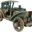 Hand-crafted Wooden Miniature Vintage Car with Batik Motive, Ford Model T (Scale 1:18)