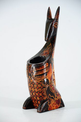 Hand-crafted Kangaroo shaped Pen Holder with Batik Motives
