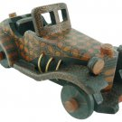 Hand-crafted Wooden Vintage Car with Batik Motive, Mercedes-Benz 500K Special Roadster (Scale 1:16)