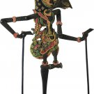 Hand-crafted Wood Shadow Puppet (Wayang Kulit) with Batik Motives, Rama of Ramayana Epic (S)