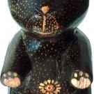 Hand-crafted Wood Figurine with Batik Motives, Teddy Bear