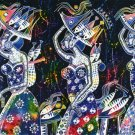 Original Batik Art Painting on Cotton, 'Ladies Carrying Basket of Fish' by Zabid (150cm x 90cm)