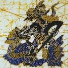 Original Batik Art Painting on Cotton, 'Warrior Bimosuci' by Wahid (45cm x 50cm)