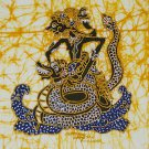 Original Batik Art Painting on Cotton, 'Warrior Ontosena' by Wahid (30cm x 30cm)