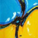 Original Batik Art Painting on Cotton, 'Abstract' by Taufik (75cm x 90cm)