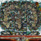Original Batik Art Painting on Cotton, 'Tree of Life' by M. Yono (90cm x 100cm)