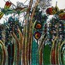 Original Batik Art Painting on Cotton, 'Luxuriant Grass' by M. Yono (90cm x 75cm)