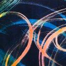 Original Batik Art Painting on Silk, 'Abstract' by Musa (18cm x 13cm)