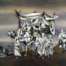Original Batik Art Painting on Cotton, 'Desert Traveller' by Mohsein (150cm x 90cm)