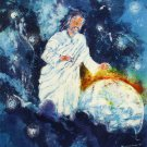 Original Batik Art Painting on Cotton, 'Jesus with Earth' by Kapitan (75cm x 90cm)