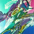 Original Batik Art Painting on Cotton, 'Abstract' by Johan (45cm x 75cm)