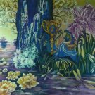 Original Batik Art Painting on Cotton, 'Fantasy' by Hamidi (90cm x 75cm)