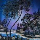 Original Batik Art Painting on Cotton, 'Village Scenery' by Hamidi (75cm x 90cm)