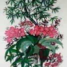 Original Batik Art Painting on Cotton, 'Wild Flowers' by Hamidi (75cm x 90cm)
