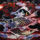 Original Batik Art Painting on Cotton, 'Fish and Longevity' by Agung (50cm x 45cm)