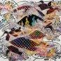 Original Batik Art Painting on Cotton, 'Fish and Longevity' by Agung (45cm x 50cm)