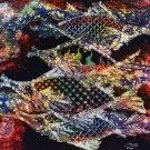 Original Batik Art Painting on Cotton, 'Fish and Prosperity' by Agung (50cm x 45cm)