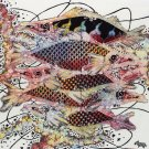 Original Batik Art Painting on Cotton, 'Fish and Prosperity' by Agung (50cm x 45cm)