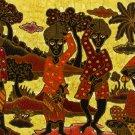 Original Batik Art Painting on Cotton, 'Fruit Sellers' by Agung (75cm x 45cm)