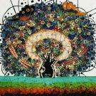 Original Batik Art Painting on Cotton, 'Tree of Life' by Agung (50cm x 45cm)