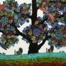 Original Batik Art Painting on Cotton, 'Tree of Wealth' by Agung (75cm x 45cm)