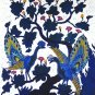 Original Batik Art Painting on Cotton, 'Peacocks on a Tree' by Agung (75cm x 90cm)