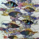 Original Batik Art Painting on Cotton, 'Fish and Prosperity' by Agung (90cm x 150cm)