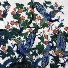 Original Batik Art Painting on Cotton, 'Peacocks on a Tree' by Agung (150cm x 90cm)