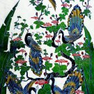 Original Batik Art Painting on Cotton, 'Peacocks on a Tree' by Agung (90cm x 150cm)