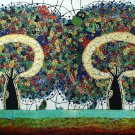Original Batik Art Painting on Cotton, 'Tree of Life' by Agung (150cm x 90cm)