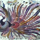 Original Batik Art Painting on Cotton, 'Phoenix' by Agung (150cm x 90cm)