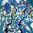 Original Batik Art Painting on Cotton, 'Peacocks on a Tree' by Agung (90cm x 200cm)