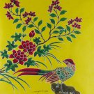 Original Batik Art Painting on Cotton, 'Oriental Bird' by Anfei (45cm x 50cm)