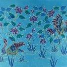 Original Batik Art Painting on Cotton, 'Oriental Wild Ducks' by Anfei (75cm x 45cm)