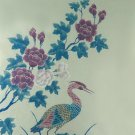 Original Batik Art Painting on Cotton, 'Oriental Stork' by Anfei (75cm x 90cm)